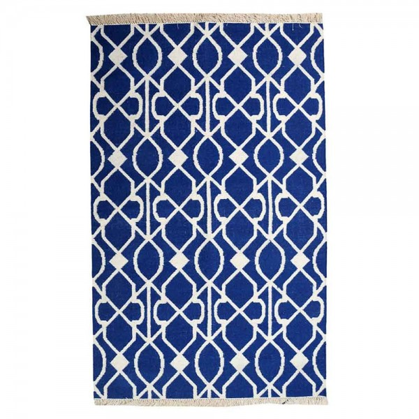 tapis kilim fait main zanet bleu the rug republic 160x230. Black Bedroom Furniture Sets. Home Design Ideas