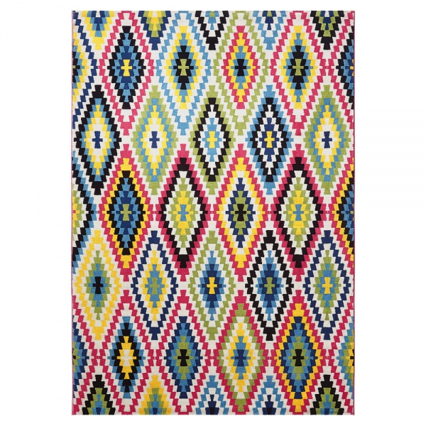 tapis esprit home fresh kilim multicolore