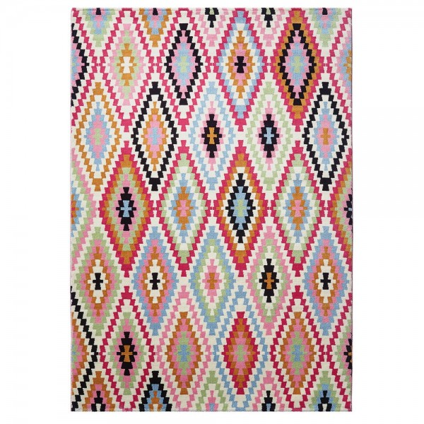tapis fresh kilim multicolore rose 120x170 esprit home. Black Bedroom Furniture Sets. Home Design Ideas