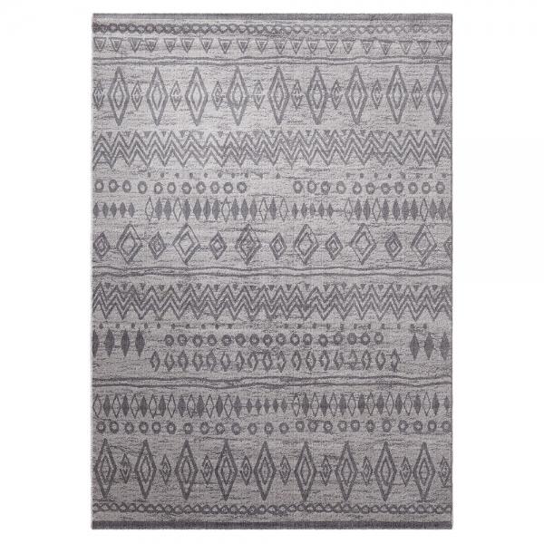 tapis gris contemporary kelim esprit home