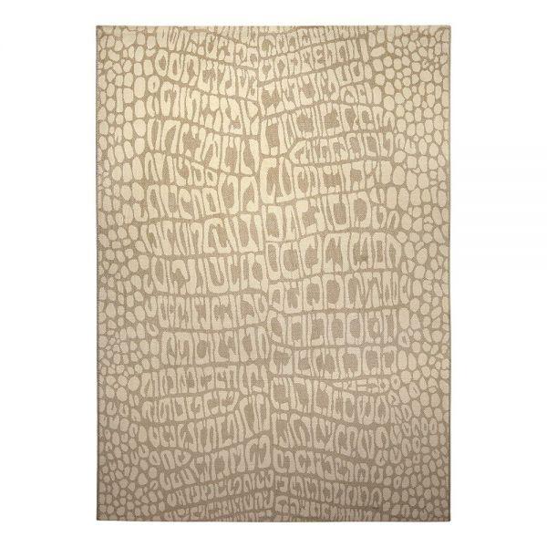 tapis wecon moderne croco beige
