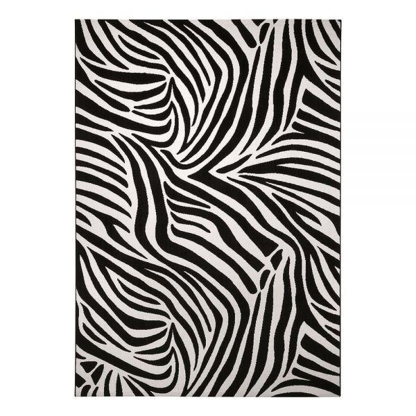 tapis wecon moderne zebra noir et blanc