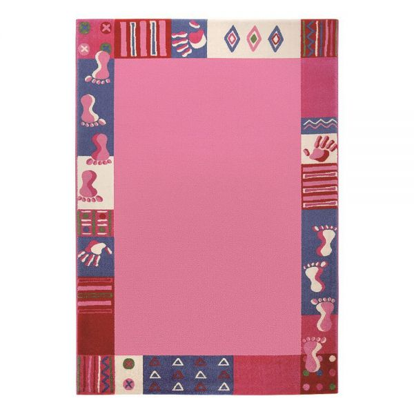 tapis fille rose roundly hands and feet wecon
