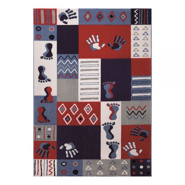 tapis enfant bleu hands and feet wecon wecon