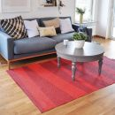 Tapis de couloir rouge zébré SOFIE SJOSTROM DESIGN ARE