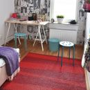 Tapis de couloir DESIGN ARE zébré Rouge SOFIE SJOSTROM