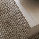 Tapis moderne coton uni beige Ligne Pure Flatweave