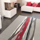 Tapis RED TRACE beige et rouge Arte Espina