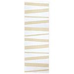 Tapis de couloir rayé blanc et beige SOFIE SJOSTROM DESIGN ARE