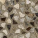 Tapis en cuir beige PIONEER Arte Espina motif mosaique