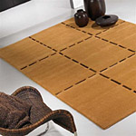 tapis en laine ocre christopher carving