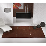 Tapis CHRISTOPHER Carving en laine marron