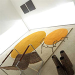 tapis circles ecru et orange - carving