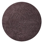 tapis rond colour in motion marron - esprit home