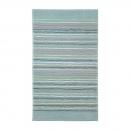 tapis de bain esprit home turquoise cool stripes