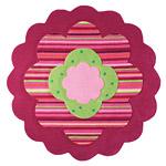 Tapis FLOWER SHAPE rose Esprit Home