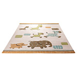Tapis enfant LUCKY ZOO Esprit Home beige