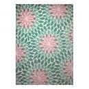 tapis moderne esprit bleu lotus