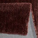 Tapis shaggy RELAXX rouge burgundy Esprit