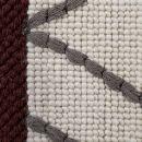 Tapis moderne Esprit HEXAGON blanc, gris et bordeaux