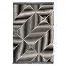 tapis carpets & co. moderne irregular fields noir et blanc
