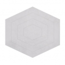 tapis enfant hexagone blanc 120x108 lilipinso