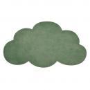 tapis enfant nuage vert foncé lilipinso