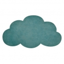 tapis enfant nuage vert 64x100 lilipinso