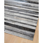 Tapis en patchwork de cuir gris JACOB Home Spirit