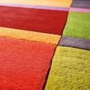 Tapis tufté main mutlicolore géométrique laine Ligne Pure Love