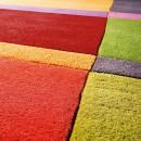 Tapis laine tufté main Love Ligne Pure mutlicolore géométrique