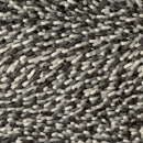 tapis shaggy gravel mix gris - brink & campman