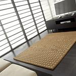 tapis pompoms cascata en laine beige carving
