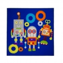 Matrix Kiddy Robots Bleu Flair Rugs