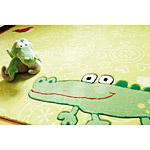 Tapis enfant vert SIGIKID HAPPY ZOO CROCODILE