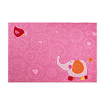 Tapis enfant rose HAPPY ZOO ELEPHANT SIGIKID