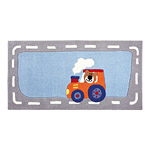 Tapis enfant HAPPY STREET TRAFFIC gris et bleu SIGIKID