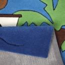 Tapis enfant Pirate Kids tufté main bleu Smart Kids