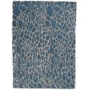 tapis moderne stream  tufté main angelo bleu