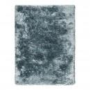 tapis tissé main shaggy ligne pure adore bleu