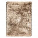 tapis tissé main shaggy ligne pure adore marron