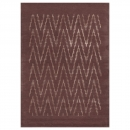 tapis laine et viscose paris ikat marron angelo