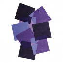 Tapis design PEBBLES mauve Angelo