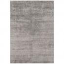 tapis noué main en soie de bambou silky angelo gris