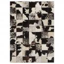 tapis patchwork cuir starless motif vache angelo