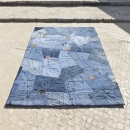 Tapis en jean BACK Carving bleu