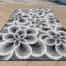 Tapis FLOWER gris Carving