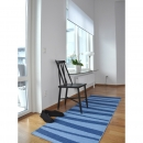Tapis de couloir ARE zébré bleu SOFIE SJOSTROM DESIGN