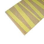 Tapis de couloir rayé ocre et jaune SOFIE SJOSTROM DESIGN ARE