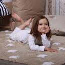 Tapis enfant STARS marron Lorena Canals